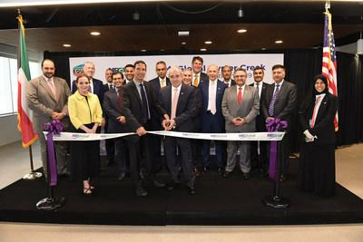 Officials from EQUATE Group, Dow, Kuwait Petroleum Corporation, Petrochemicals Industry of Kuwait, Qurain Petrochemical Company and MEGlobal celebrated the inauguration of MEGlobal's Oyster Creek, TX Site, the first new Kuwait-based ethylene glycol manufacturing facility on the U.S. Gulf Coast.