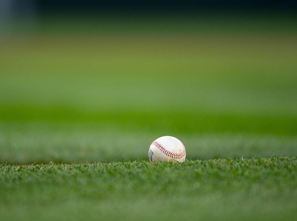 SEATTLE, WA - APRIL 14:  A detail shot of a baseball on the baseline during the game between the Texas Rangers and the Seattle Mariners at Safeco Field on Friday, April 14, 2017 in Seattle, Washington. (Photo by Rod Mar/MLB Photos via Getty Images)