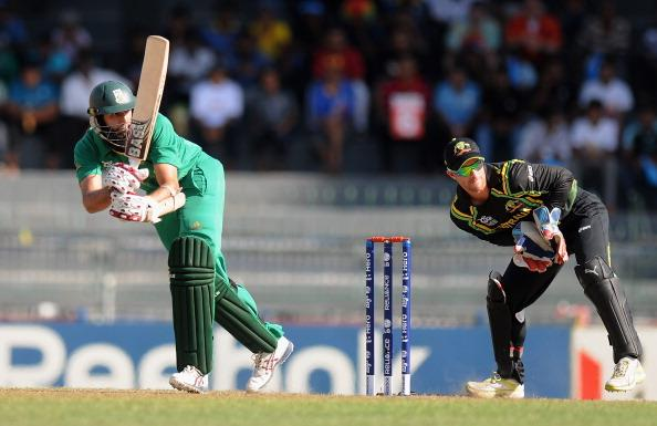 COLOMBO, SRI LANKA - SEPTEMBER 30: Hashim Amla of South Africa bats during the Ninth super eight match between Australia and South Africa held at R. Premadasa Stadium on September 30, 2012 in Colombo, Sri Lanka.  (Photo by Pal Pillai/Getty Images,)