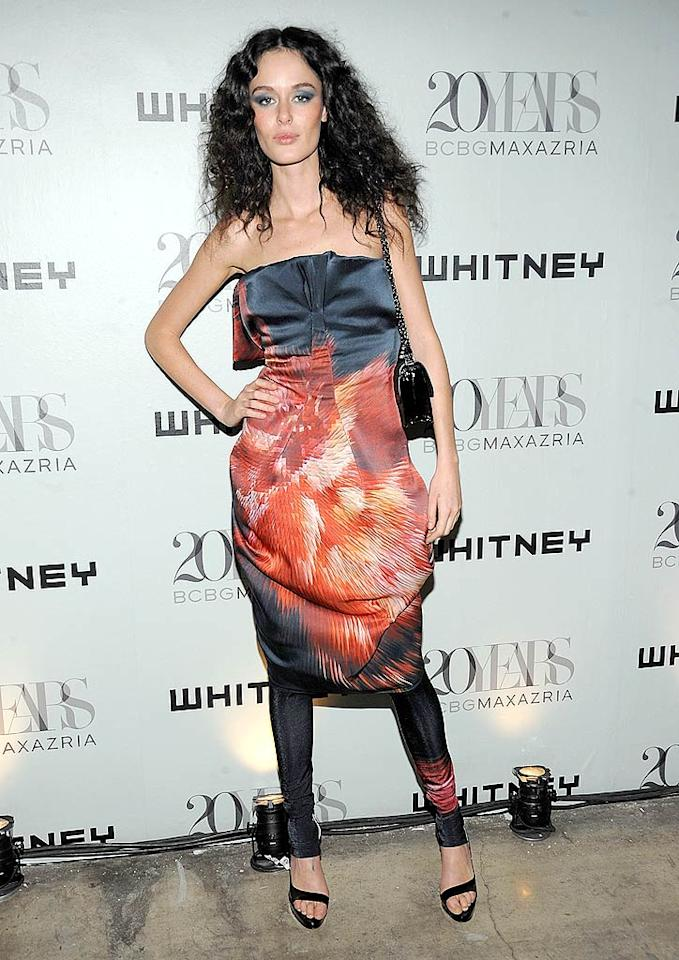 """""""Make Me a Supermodel"""" mentor Nicole Trunfio ignited the evening in a fiery ensemble. Jamie McCarthy/<a href=""""http://www.wireimage.com"""" target=""""new"""">WireImage.com</a> - June 16, 2009"""