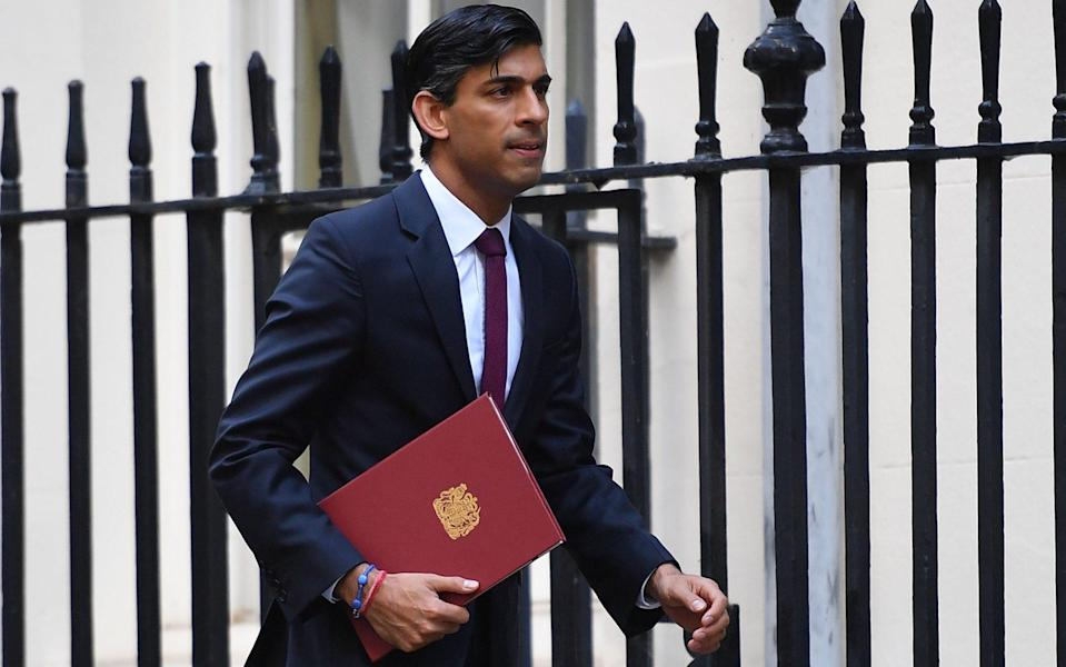 Rishi Sunak is reportedly set to announce an extension to the furlough scheme - Justin Tallis/AFP