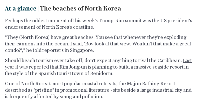 At a glance   The beaches of North Korea