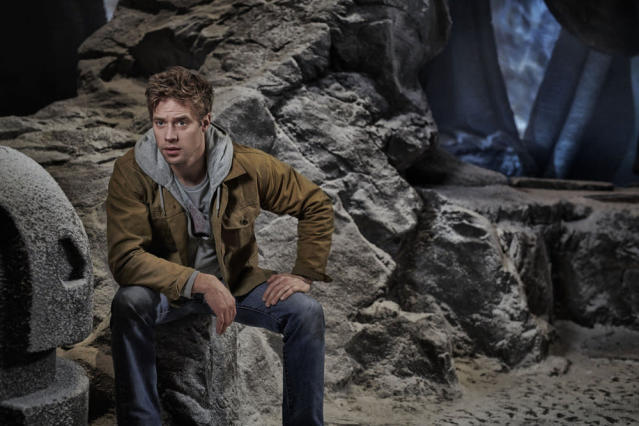 Shaun Sipos as time and space traveler Adam Strange in <em>Krypton.</em> (Photo: Gavin Bond/Syfy)