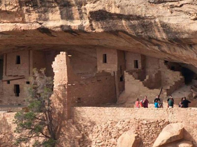 Colorado's Mesa Verde National Park is home to ancient architectural sites including 600 cliff dwellings: US National Parks Service