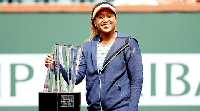<p>INDIAN WELLS, Calif. (AP)—Naomi Osaka was dazed and confused.</p><p>Her backhand ticked the baseline on match point, and she paused, unsure whether it was good or not.</p><p>It was, and still there no was big celebration. Two hours later, she was equally low-key.</p><p>''I don't really know what's going on right now,'' she said, smiling. ''I really feel like I have another match I have to play tomorrow, and it didn't really sink in that I won.''</p><p>Osaka routed Daria Kasatkina of Russia 6-3, 6-2 to win the BNP Paribas Open on Sunday in a matchup of 20-year-old rising stars that marked the first title of her career.</p><p>Osaka's victory capped a run that included beating two-time winner Maria Sharapova, No. 5 Karolina Pliskova and top-ranked Simona Halep during the two-week tournament. She dropped one set in seven matches.</p><p>The Japan-born Osaka will rise from 44th to a career-high No. 22 in Monday's WTA Tour rankings.</p><p>Osaka needed just 70 minutes to dispatch No. 19 Kasatkina, who had an equally impressive showing in the desert.</p><p>Among those the Russian beat was U.S. Open winner Sloane Stephens, No. 2 Caroline Wozniacki, No. 10 Angelique Kerber and No. 8 Venus Williams. Kasatkina will move up eight spots to No. 11.</p><p>''I beat very good players, and in the right moments I was doing the right decisions, so it means I'm growing as a player,'' Kasatkina said. ''This is the most important things for me.''</p><p>The players traded service breaks to open the match. Osaka gained the only other break of the first set with a backhand winner on the sideline to go up 5-3. She gave up just one point on her serve in the next game to take the set, 6-3.</p><p>Both players were visited by their coaches during the changeover.</p><p>Osaka's coach told her not to worry about what Kasatkina was doing.</p><p>''I was extremely stressed and extremely nervous,'' Osaka said. ''But my plan was to, like, fake that I'm very calm.''</p><p>The Russian's coach told her: ''