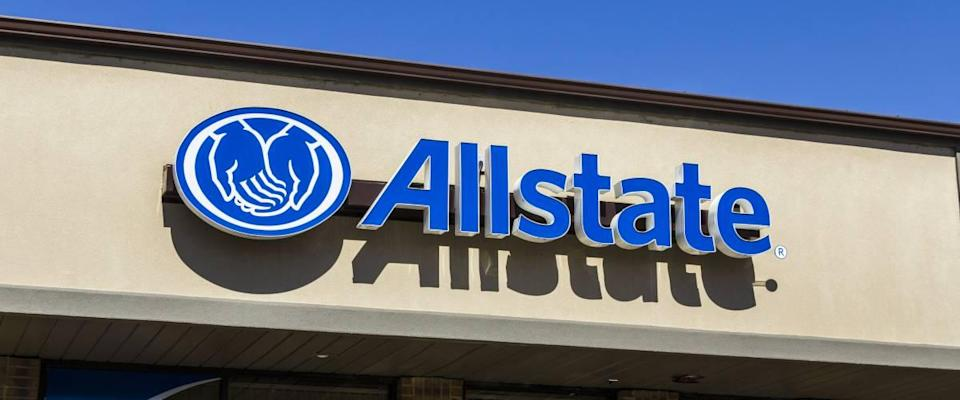 Allstate Insurance Logo and Signage.