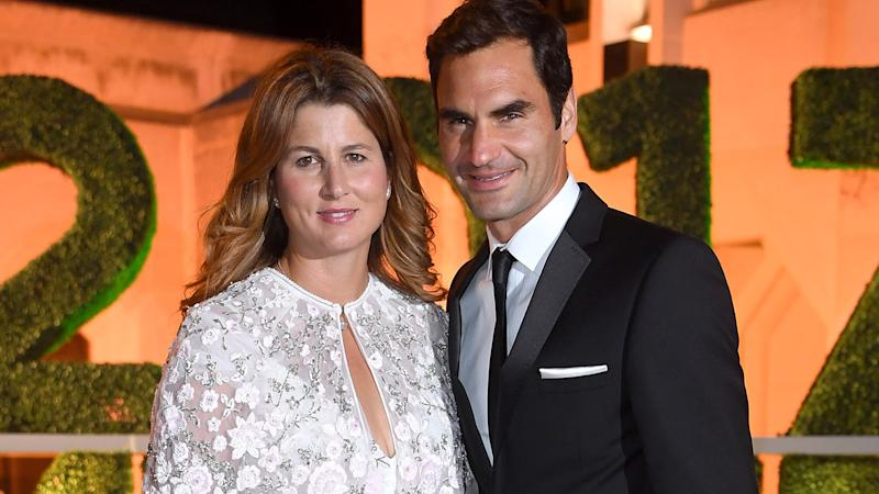 Roger Federer and wife Mirka, pictured here at the 2017 Wimbledon Winners Dinner.
