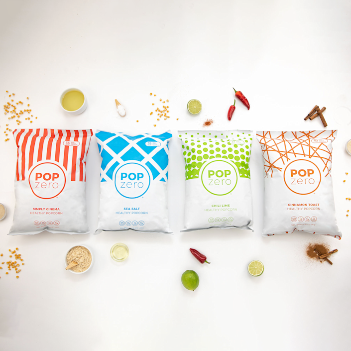 """<p>popzeropopcorn.com</p><p><strong>$14.99</strong></p><p><a href=""""https://www.popzeropopcorn.com/products/variety-pack"""" rel=""""nofollow noopener"""" target=""""_blank"""" data-ylk=""""slk:Shop Now"""" class=""""link rapid-noclick-resp"""">Shop Now</a></p><p>For the movie junkie who avoids junk food, this variety pack will hit the spot. It <strong>contains salty and sweet flavors</strong>, all free of questionable ingredients.</p>"""