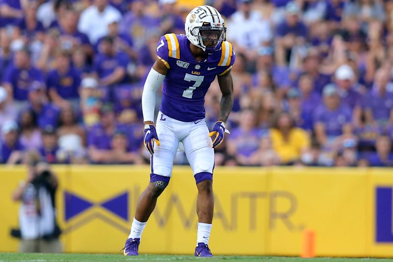 LSU safety Grant Delpit must clean up his tackling. (Getty Images)