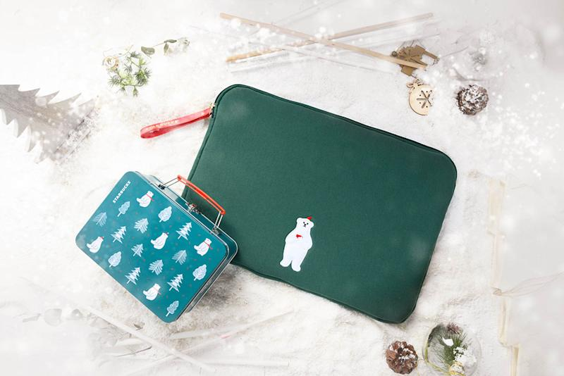 Lunch Box: $19.90. Laptop Case (39cm x 26cm x 2cm): $32.90. Both items are available at selected stores only. (PHOTO: Starbucks Singapore)