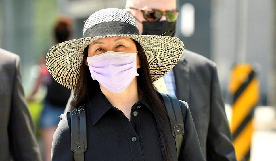 Meng Wanzhou (shown on Tuesday) wants more than 300 pages of HSBC documents admitted in her extradition hearing. Photo: Reuters