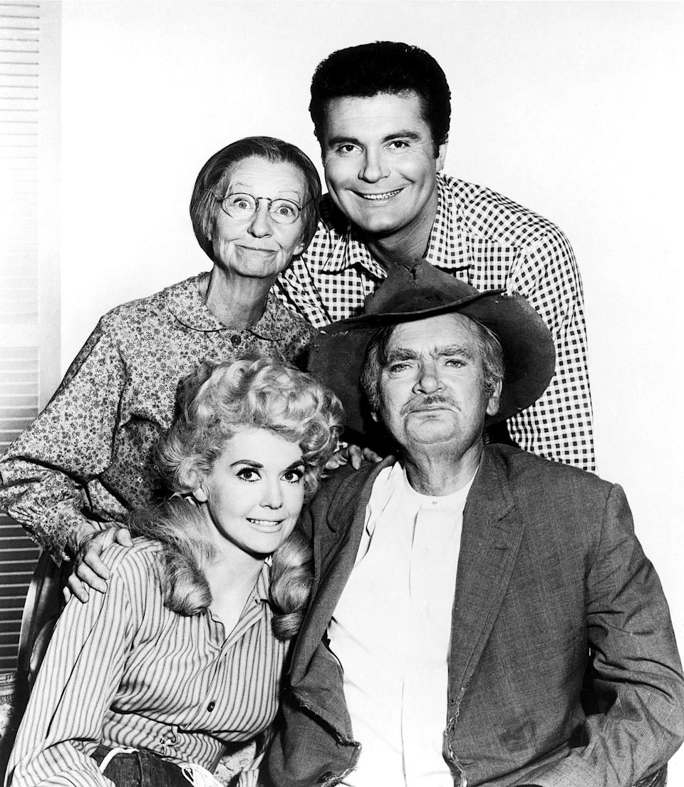"Banker Mr. Drysdale of ""The Beverly Hillbillies"" was obsequious with the suddenly rich Clampetts (clockwise, from left) Donna Douglas, Irene Ryan, Max Baer Jr. and Buddy Ebsen."