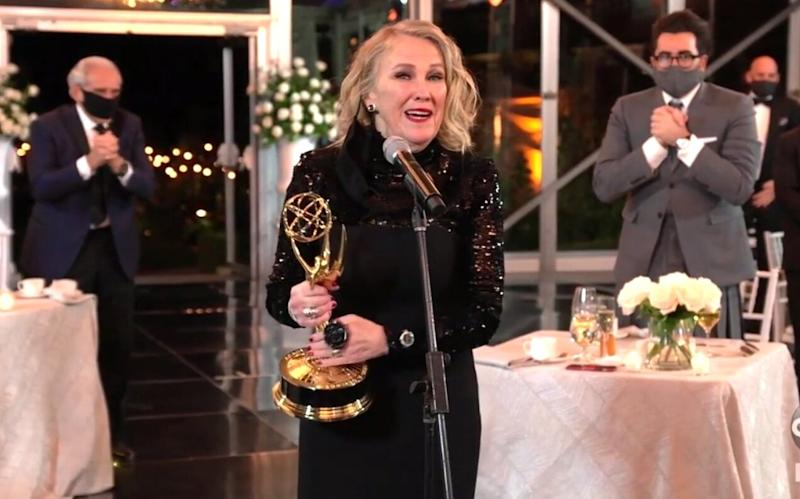 Catherine O'Hara Says She's Grateful to Represent Women 'of a Certain Age' in Emmys Speech