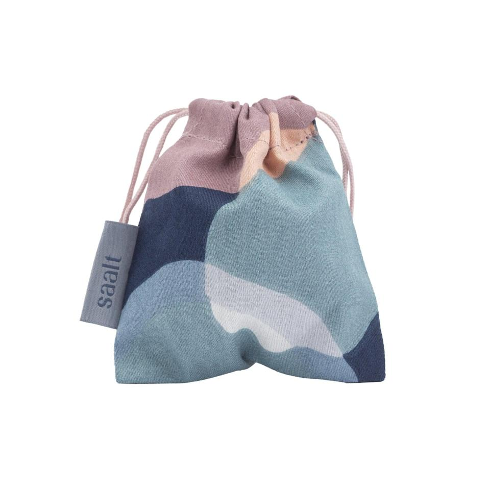 <p>After you've finished your period, clean your cup then store it in the <span>Saalt Cup Bag</span> ($5) for safe-keeping. This little breathable drawstring bag is available in eight color options. </p>