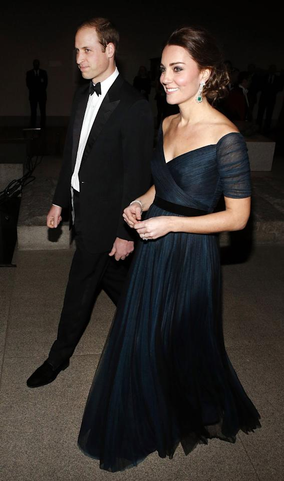 <p>It wasn't the Met Gala, but a super-fancy dinner to celebrate the 600th anniversary of St. Andrews that got Kate dressed up in Jenny Packham again at the Metropolitan Museum of Art in New York. Remember: She was pregnant with Charlotte on this trip! </p>