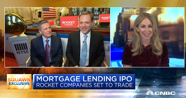 """Dan Gilbert, founder and chairman of Rocket Companies, and Jay Farner, CEO, talks about the mortgage giant's IPO with Becky Quick co-anchor, CNBC's """"Squawk Box."""""""