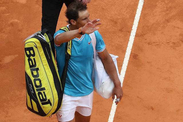 Nadal was dumped out in the semi-finals by Italian Fabio Fognini (AFP Photo/VALERY HACHE)