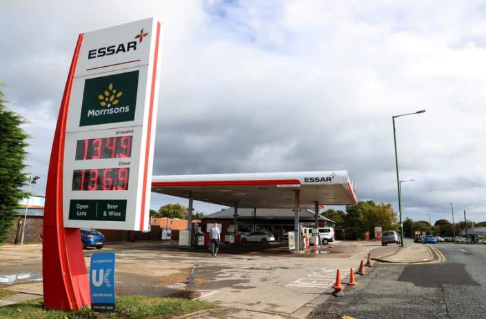 An Essar petrol station forecourt in Stanley