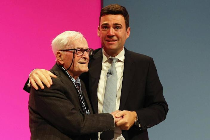 With Andy Burnham at Labour conference in 2014 (Getty)