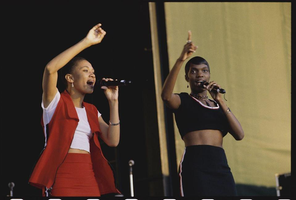 """<p>Zhané, who had an album literally called <em>Pronounced Jah-Nay</em> lest there be any confusion, are a classic 90s R&B girl duo. They were best known for tracks like """"Sending My Love"""" and the undeniable """"Groove Thang."""" </p>"""