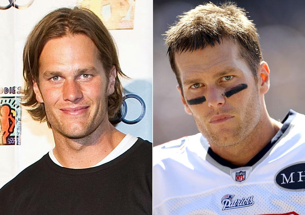 "New England Patriots' quarterback Tom Brady, 34, went from shaggy to short.         ""The man could have a shaved head and he would look amazing,"" Eber said. ""Whatever keeps Gisele and his legions of female fans happy works!""        Well, except for that phase when he had a Justin Bieber-inspired 'do...     Paul Morigi/WireImage.com/Ezra Shaw/Getty Images"