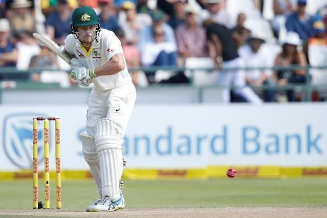 If the cap fits - Australia batsman Cameron Bancroft in action against South Africa at Cape Town last year (AFP Photo/GIANLUIGI GUERCIA)