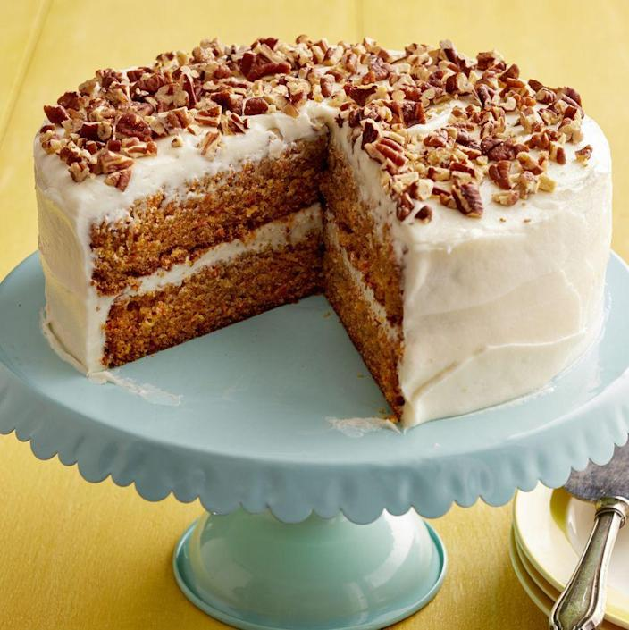 "<p>Serve this classic carrot cake after your Mother's Day meal. The recipe comes from Ree's mom's dearest friend.</p><p><strong><a href=""https://www.thepioneerwoman.com/food-cooking/recipes/a11735/sigrids-carrot-cake-perfect-for-easter/"" rel=""nofollow noopener"" target=""_blank"" data-ylk=""slk:Get Ree's recipe."" class=""link rapid-noclick-resp"">Get Ree's recipe.</a></strong></p><p><a class=""link rapid-noclick-resp"" href=""https://go.redirectingat.com?id=74968X1596630&url=https%3A%2F%2Fwww.walmart.com%2Fsearch%2F%3Fquery%3Dcake%2Bknife&sref=https%3A%2F%2Fwww.thepioneerwoman.com%2Ffood-cooking%2Fmeals-menus%2Fg36066375%2Fmothers-day-cakes%2F"" rel=""nofollow noopener"" target=""_blank"" data-ylk=""slk:SHOP CAKE KNIVES"">SHOP CAKE KNIVES</a></p>"