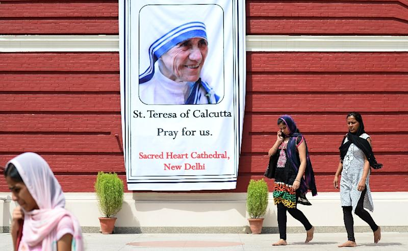 """Indian Prime Minister Narendra Modi has said that """"it is natural for every Indian to take pride in Mother Teresa's canonisation."""" (AFP Photo/ Sajjad Hussain)"""
