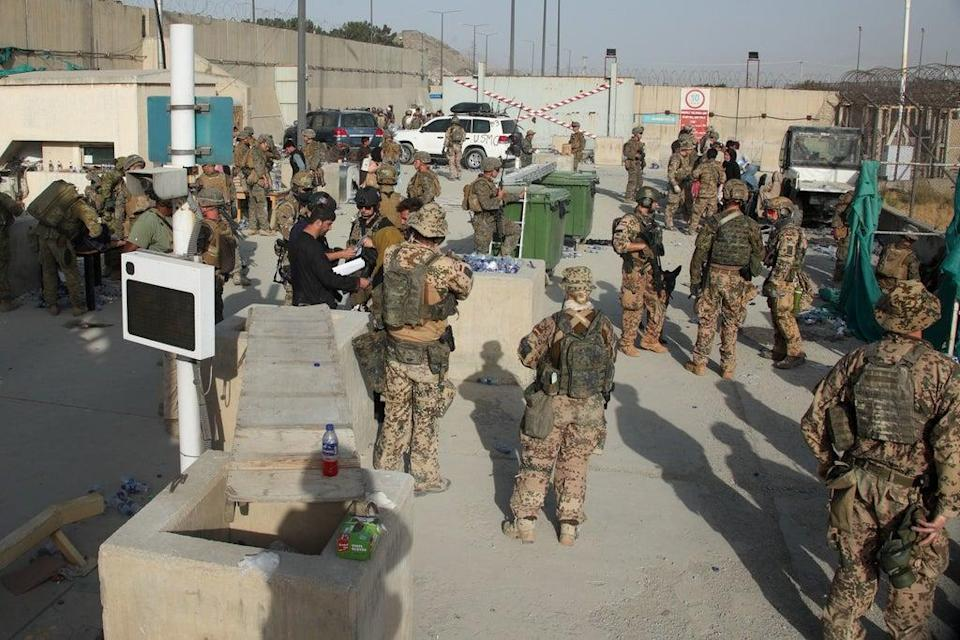 More than 1,000 service personnel have been deployed to Kabul to assist the operation (MoD/PA) (PA Media)