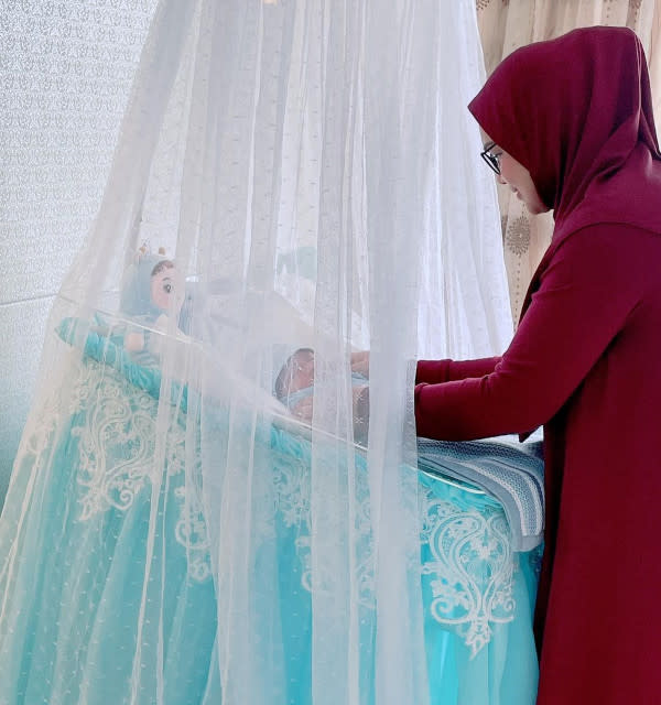 This little prince is Siti's first son after previously welcoming daughter Aafiyah