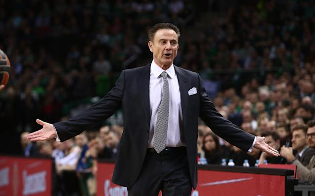 Rick Pitino saw a coaching first in Europe this week. (Getty Images)