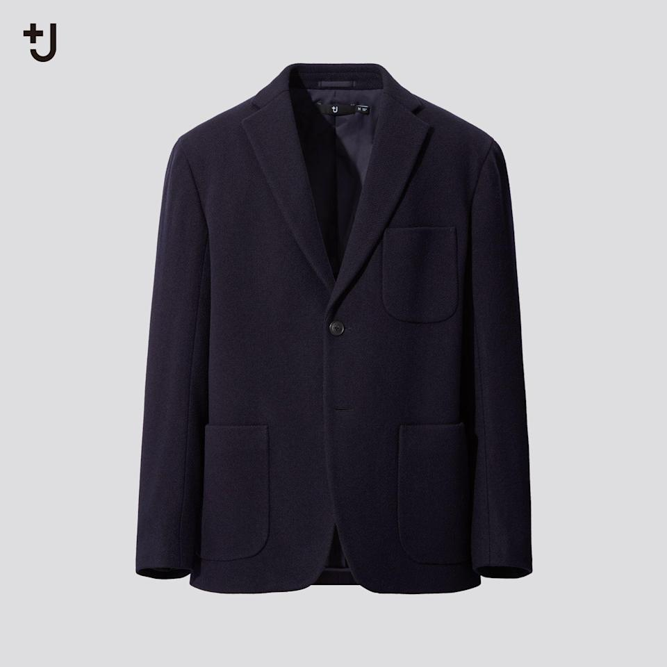 """<p><strong>Uniqlo</strong></p><p>uniqlo.com</p><p><strong>$179.90</strong></p><p><a href=""""https://go.redirectingat.com?id=74968X1596630&url=https%3A%2F%2Fwww.uniqlo.com%2Fus%2Fen%2Fmen-plusj-wool-blend-oversized-jacket-432643.html&sref=https%3A%2F%2Fwww.esquire.com%2Fstyle%2Fmens-fashion%2Fg34654836%2Funiqlo-j-jil-sander-collaboration-2020%2F"""" rel=""""nofollow noopener"""" target=""""_blank"""" data-ylk=""""slk:Buy"""" class=""""link rapid-noclick-resp"""">Buy</a></p><p>Yes, it's time to start thinking about tailoring again. Here's where to start. </p>"""