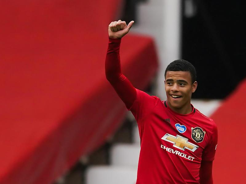 Greenwood celebrates his goal against Bournemouth: Getty