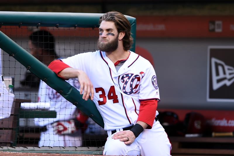 Bryce Harper is waiting to get to the World Series. (Getty Images)