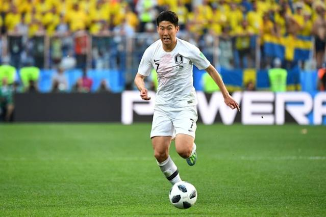 Son is South Korea's key player, but he struggled to make an impact against Sweden