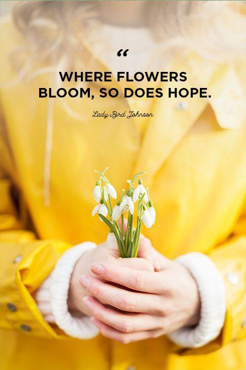 """<p>""""Where flowers bloom, so does hope.""""</p>"""