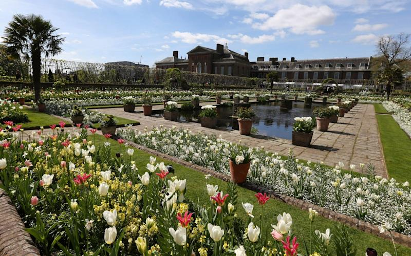 White Garden at Kensington Palace  - PA