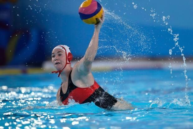 Emma Wright will be one of the leaders on Canada's Olympic water polo team.  (Silvia Izquierdo/Associated Press - image credit)