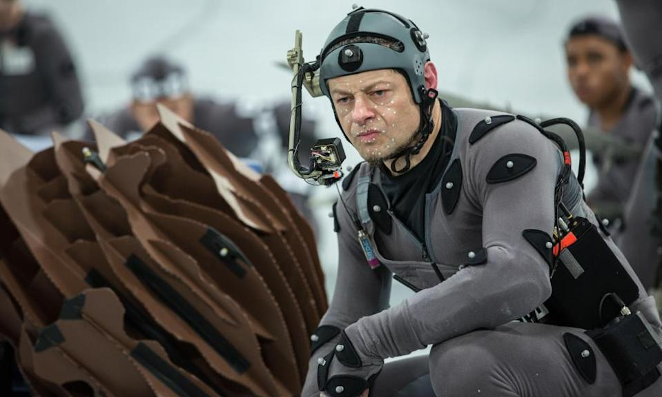 Dot, dot, dot … Andy Serkis doing his MoCap thing in Dawn of the Planet of the Apes.
