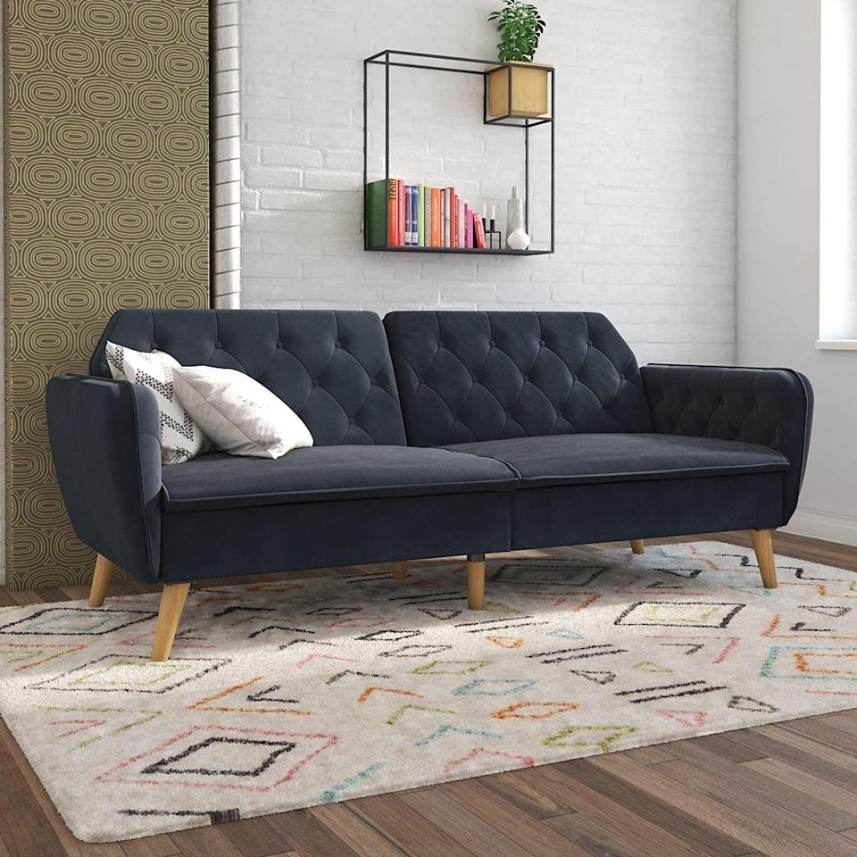 <p>All your friends will compliment this <span>Novogratz Tallulah Memory Foam Futon</span> ($369).</p>