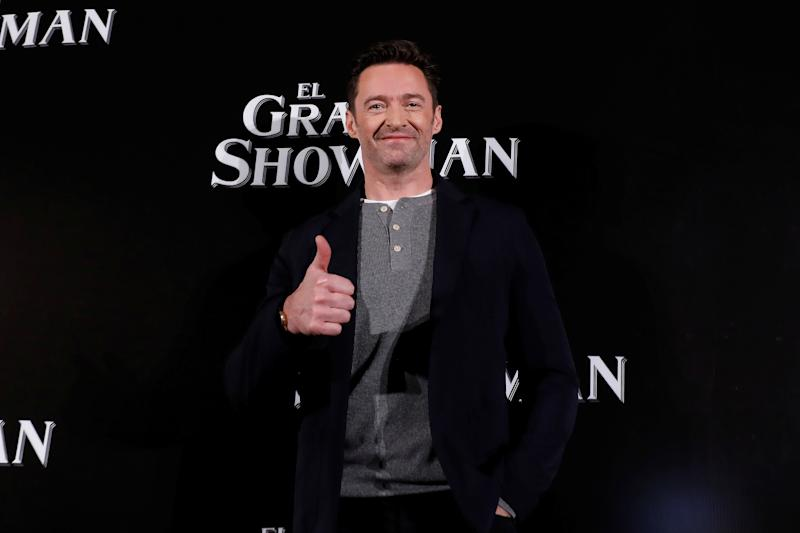 "Australian actor Hugh Jackman poses for photographers ahead of a premiere of his latest film, a musical directed by Michael Gracey called ""The Greatest Showman"", in Mexico City, Mexico December 13, 2017. REUTERS/Carlos Jasso"