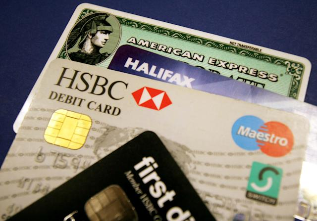 Credit cards and debit cards. Photo: REUTERS/Catherine Benson CRB