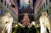 "<p>How could it be Christmas in New York without the iconic Rockefeller tree? Following tradition, a giant Christmas tree (this year, a 75-foot Norway spruce) will be on full display at <a href=""https://www.rockefellercenter.com/holidays/"" rel=""nofollow noopener"" target=""_blank"" data-ylk=""slk:Rockefeller Center"" class=""link rapid-noclick-resp"">Rockefeller Center</a> starting in early December. Though the tree is usually lit from 6 a.m. to midnight, you can expect it to be merry and bright for the full 24 hours on Christmas Day. </p>"