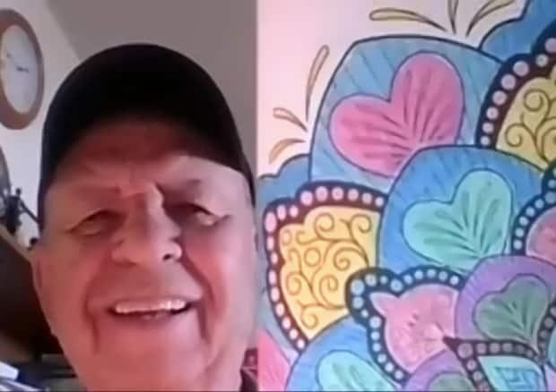 Jesus Puertas, 82, says he's been spending up to two hours a day colouring mandalas since joining the group.