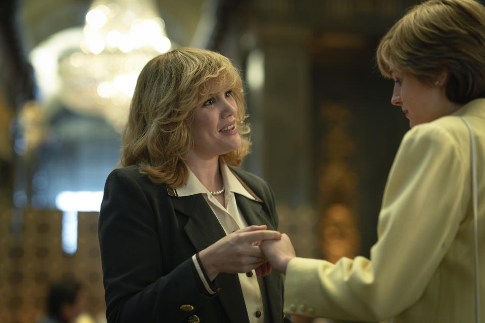 The Crown S4. Picture shows: Camilla Parker Bowles (EMERALD FENNELL). Filming Location: Australia House, Aldwych
