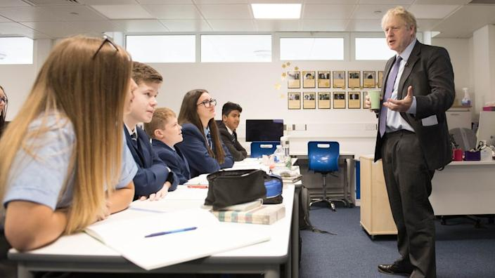 The prime minister visited a secondary school in his constituency last week