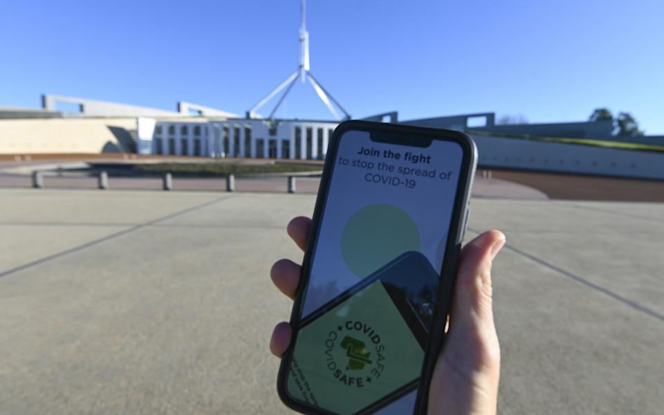 Australia's Covid-19 app has had issues around functionality since its launch earlier this year - EPA
