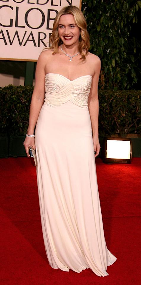 """<a href=""""/kate-winslet/contributor/33784"""">Kate Winslet</a> at <a href=""""/the-64th-annual-golden-globe-awards/show/40075"""">the 64th annual Golden Globe Awards</a>."""