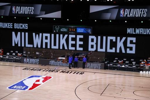 A 2nd day of NBA playoff games halted over racial injustice