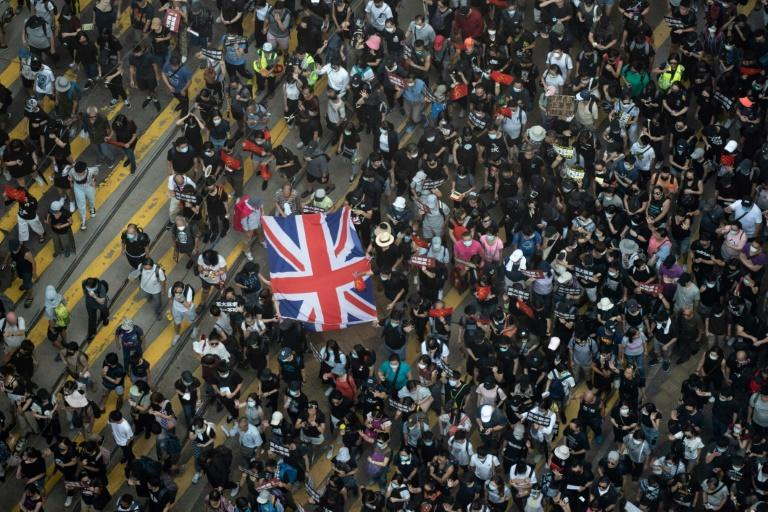Britain has walked a careful path on the protests, keen to keep Beijing onside as a valuable trade partner (AFP Photo/Philip FONG)